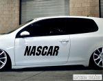 NASCAR autó felirat tuning matrica (30x110 cm)