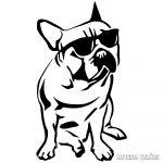 Francia bulldog matrica 3
