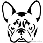 Francia bulldog matrica 6