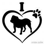 Angol bulldog matrica 16