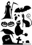 Halloween szett matrica