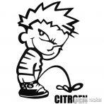 Calvin pisil Citroen - Szélvédő matrica
