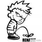 Calvin pisil Renault - Szélvédő matrica