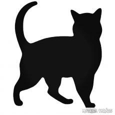 Macska jön matrica