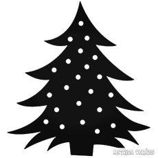 Világító Karácsonyfa matrica