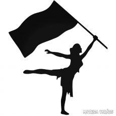 Nő zászlóval Autómatrica