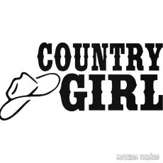 Country Girl - Szélvédő matrica