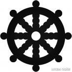 Hajókerék matrica