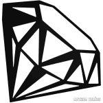 """Gyémánt ékszer """"1"""" Autómatrica"""