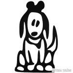 Kutya figura matrica