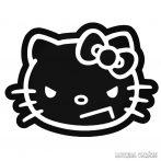 Gonosz Hello Kitty matrica