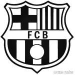 FC Barcelona logó matrica