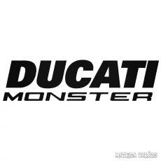 Ducati Monster - Szélvédő matrica