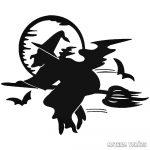 Halloween boszorka matrica