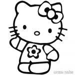 Hello Kitty virágos póló matrica