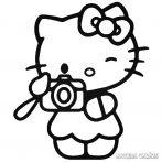Hello Kitty matrica fényképezik