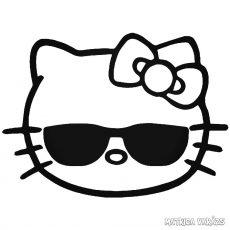 Hello Kitty matrica napszemüvegben