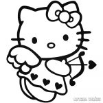 Hello Kitty matrica Cupido
