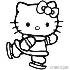 Hello Kitty matrica korcsolya