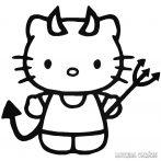Hello Kitty matrica ördög