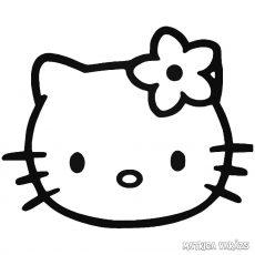 Hello Kitty matrica fej 1