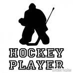 Hockey játékos matrica
