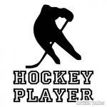 """Hockey játékos """"1"""" matrica"""