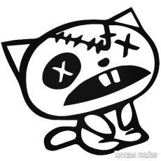 X szemű kiscica matrica