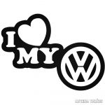 Volkswagen matrica I Love My VW matrica