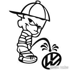 Calvin Pisil VW - Szélvédő matrica