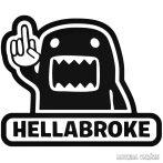 Domo Hellabroke - Szélvédő matrica