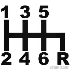 Autó váltó felirat - Szélvédő matrica