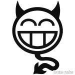 Röhögő Smiley matrica