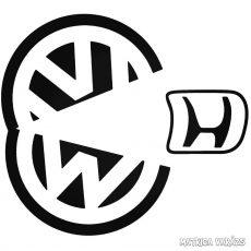VW Hondát eszik matrica