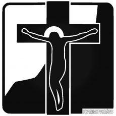 """Jézus kereszt """"1"""" Autómatrica"""