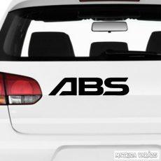ABS - Szélvédő matrica