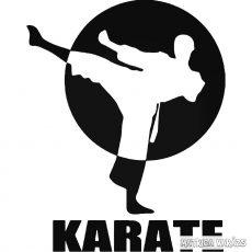 Karate felirat matrica