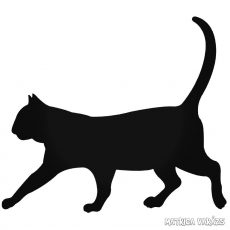 Sétáló macska matrica