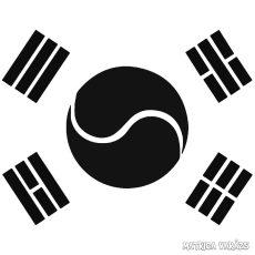 Koreai zászló Autómatrica