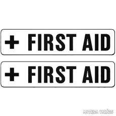 2 db First AID felirat Autómatrica