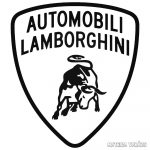 Automobili Lamborghini - Szélvédő matrica