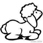 Bárányka matrica