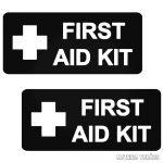 """2 db First AID felirat """"1"""" - Szélvédő matrica"""