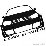 Volkswagen matrica Low and Wide