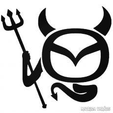 Mazda Ördög matrica