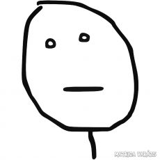 "Poker Face ""1"" meme Autómatrica"