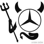 Ördög Mercedes matrica