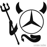 """Ördög Mercedes """"1"""" matrica"""