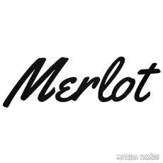 Merlot szép felirat Autómatrica