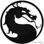 Mortal logó matrica